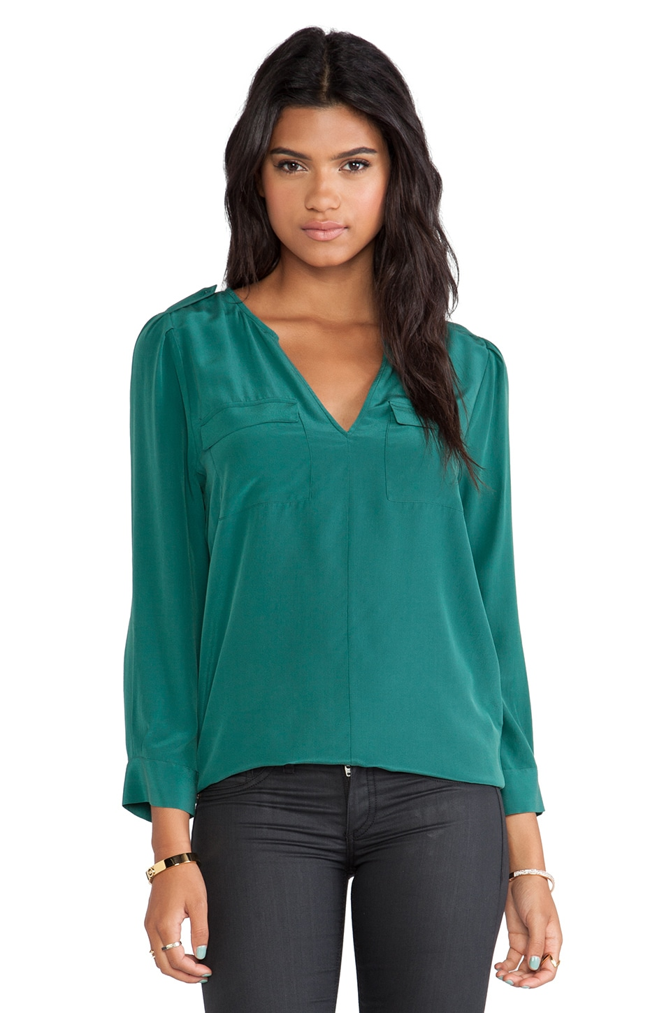 Joie Marlo Blouse in Hunter