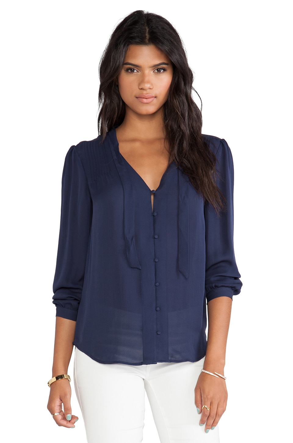 Joie Clarisse Blouse in Dark Navy
