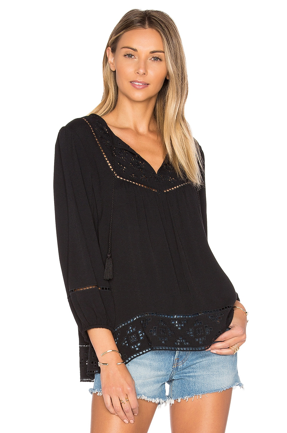 Joie Cathora Blouse in Caviar