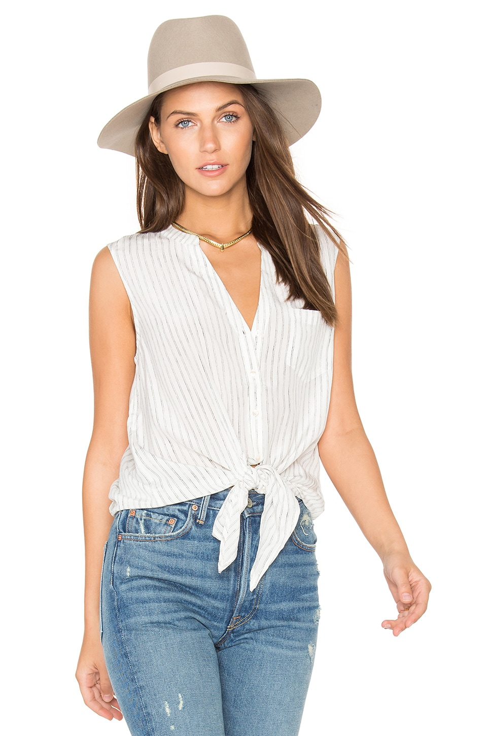 Edalette Button Down Tank by Joie