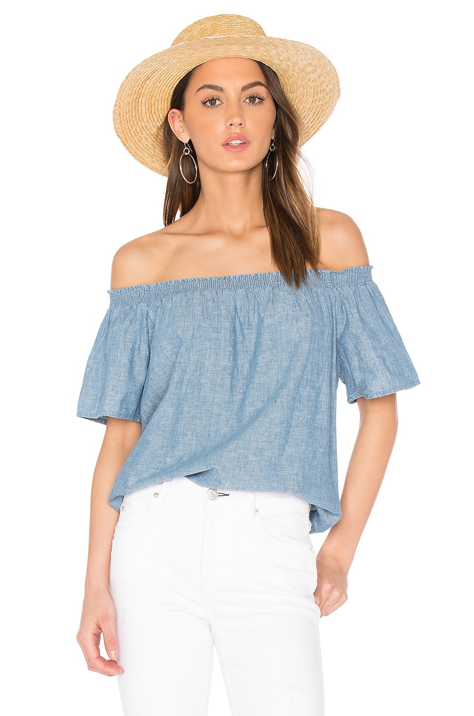 Joie Amesti B Top in Chambray