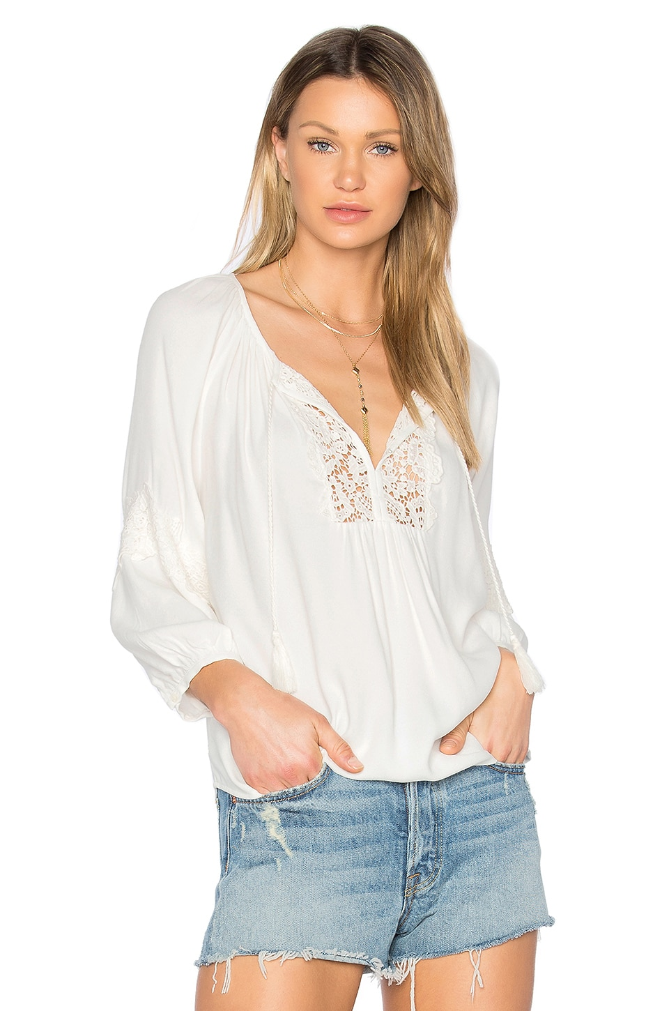 Joie Orval Blouse in Porcelain