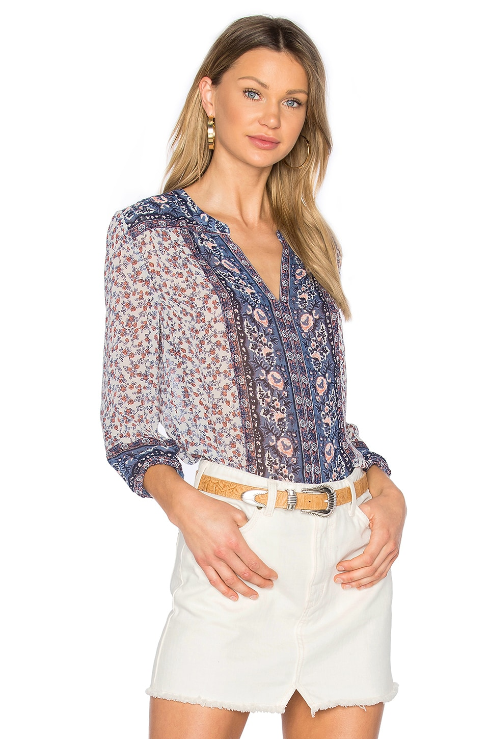 Joie Andala Blouse in Porcelain
