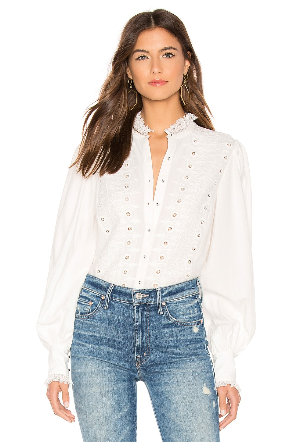 Joie Bobette Blouse in Porcelain