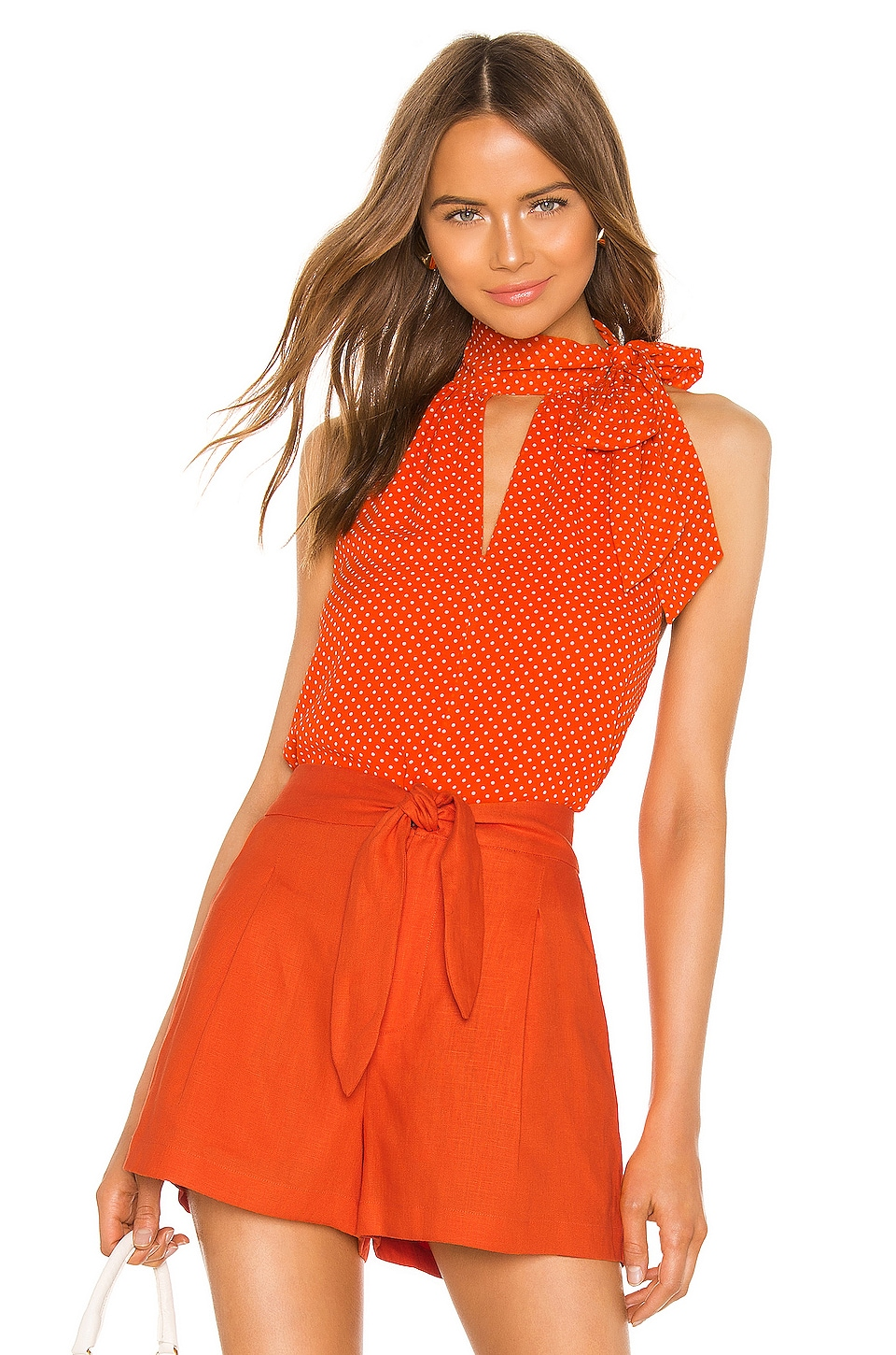 Joie Dalman Blouse in Warm Terracotta