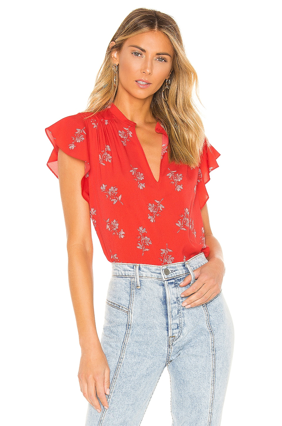 Joie Marlina Blouse in Poppy