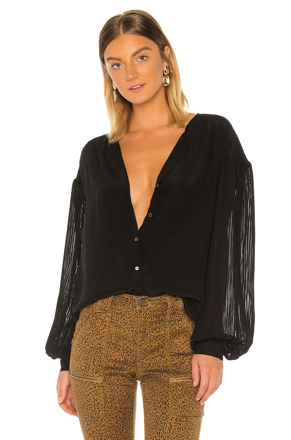 Joie Kevia Blouse in Caviar