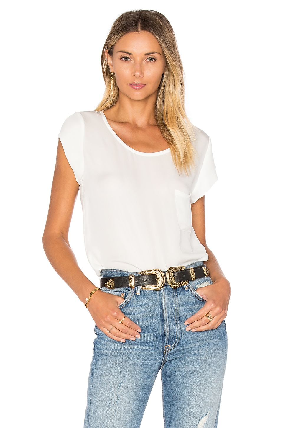Joie Rancher Top in Porcelain