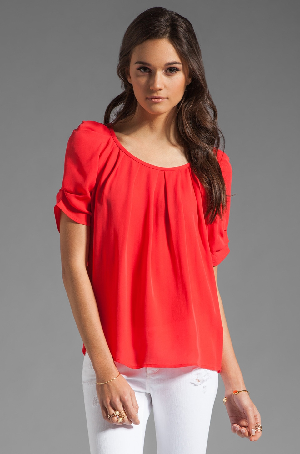 Joie Eleanor Top in Cherry