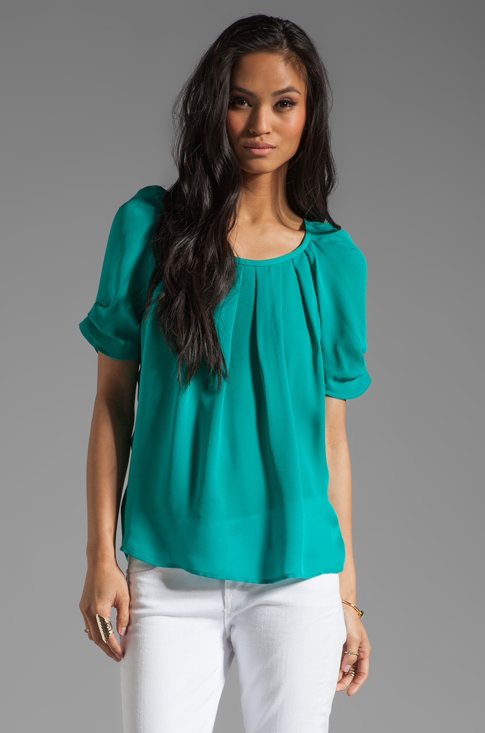 Joie Eleanor Silk Top in Juniper