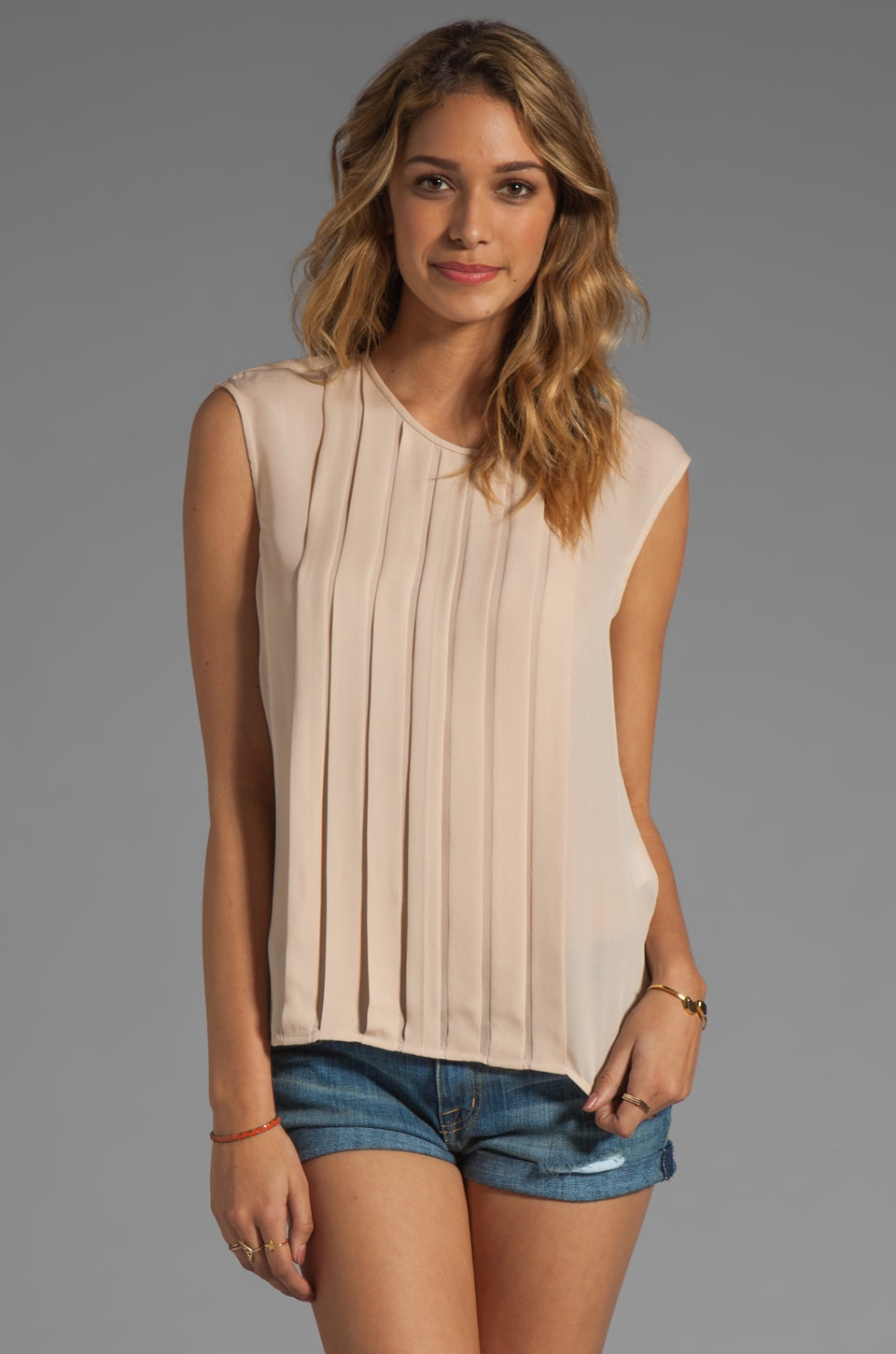 Joie Averlia Silk Top in Dusty Pink Sand