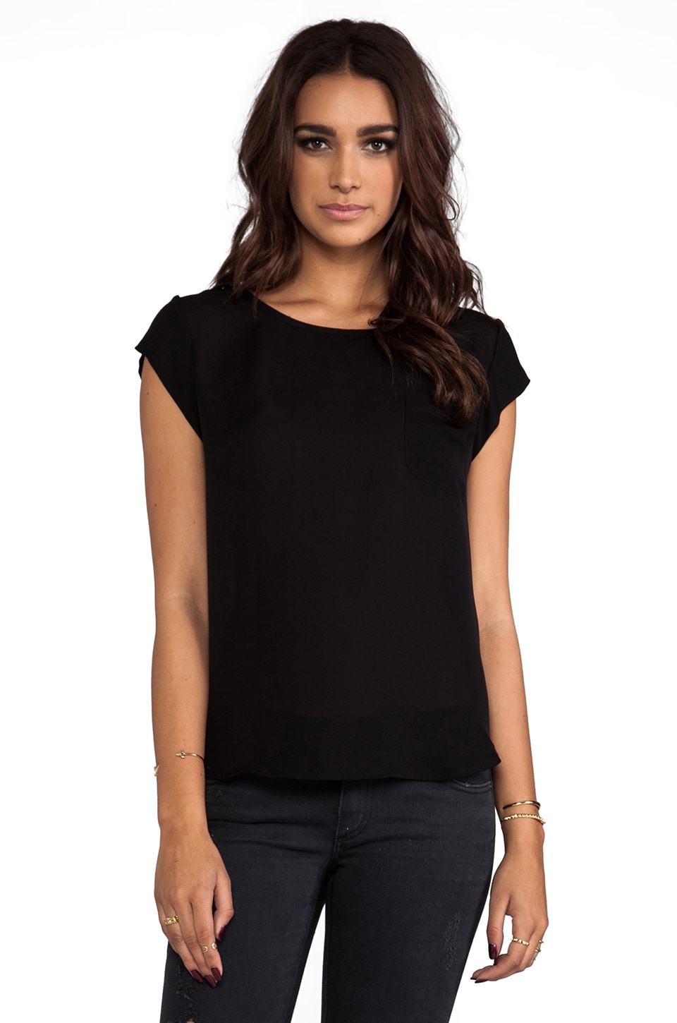 Joie Rancher Silk Top in Caviar