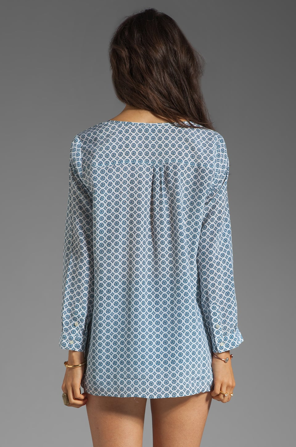 Joie Nepal Medallion Print Blouse in Porcelain