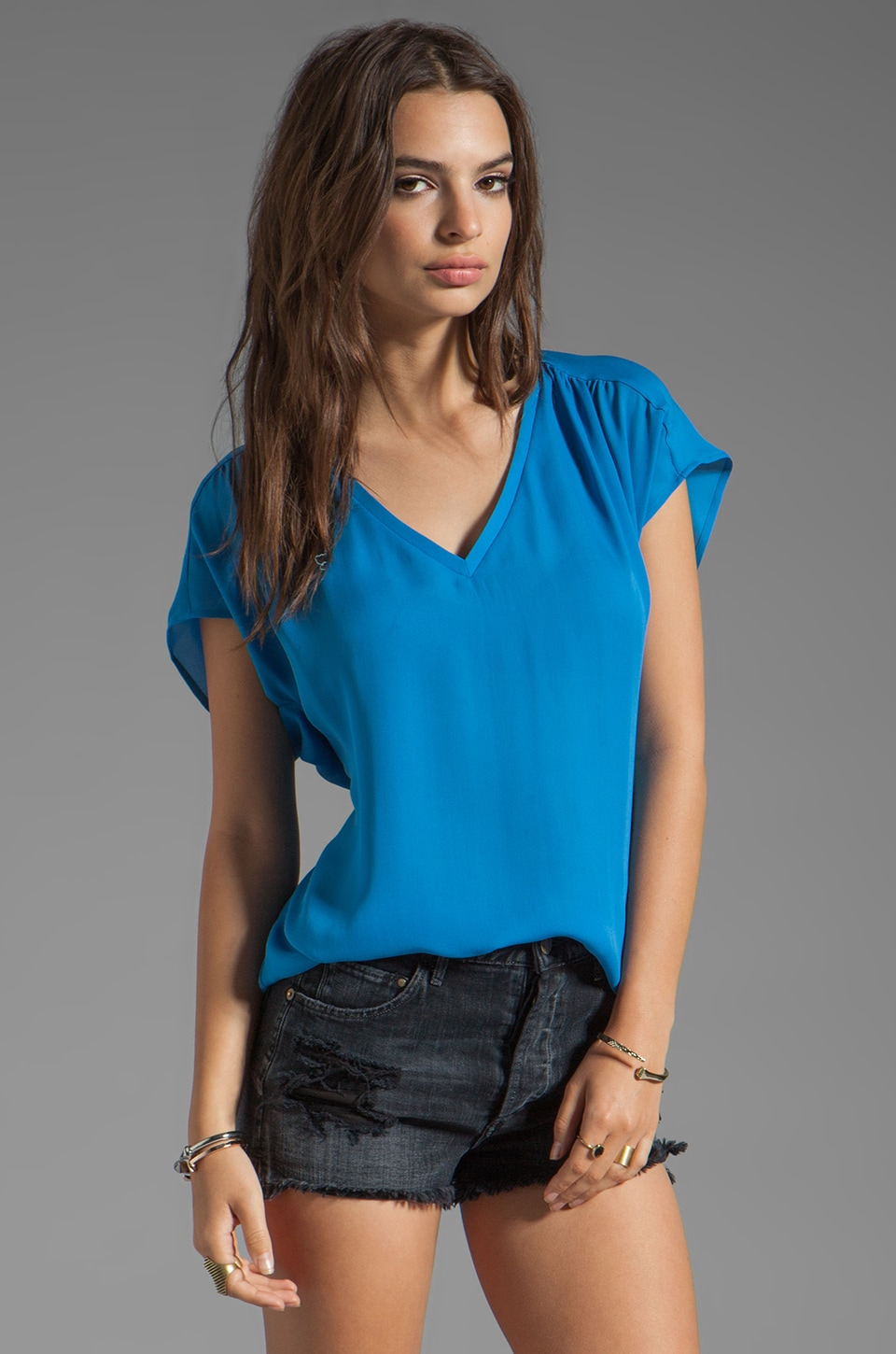 Joie Suela Blouse in Daphne Blue