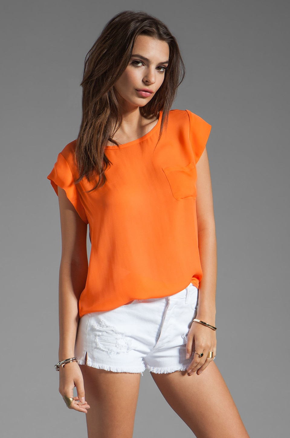 Joie Rancher Matte Silk Tank in Carrot