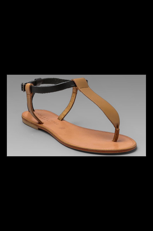 Joie a La Plage Shoal T Strap Sandal in Tan/Black