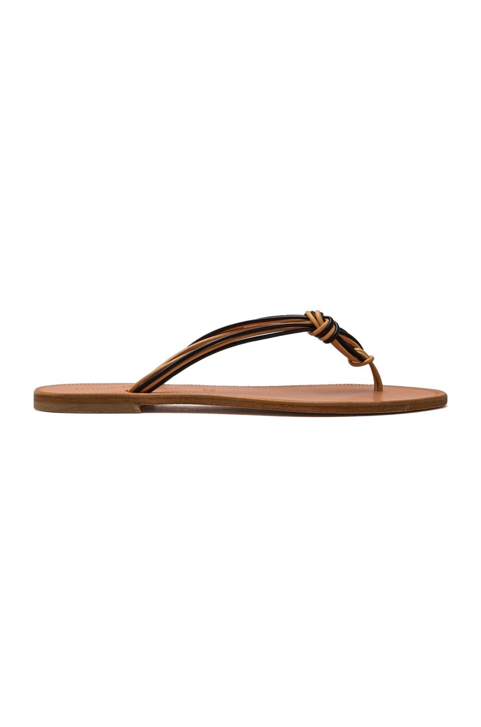 Joie a La Plage Palmetto Flip Flops in Black/Natural