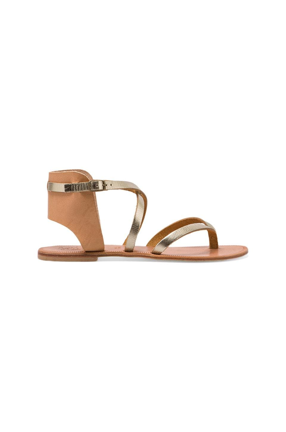 Joie Casis Sandal in Platinum/Natural