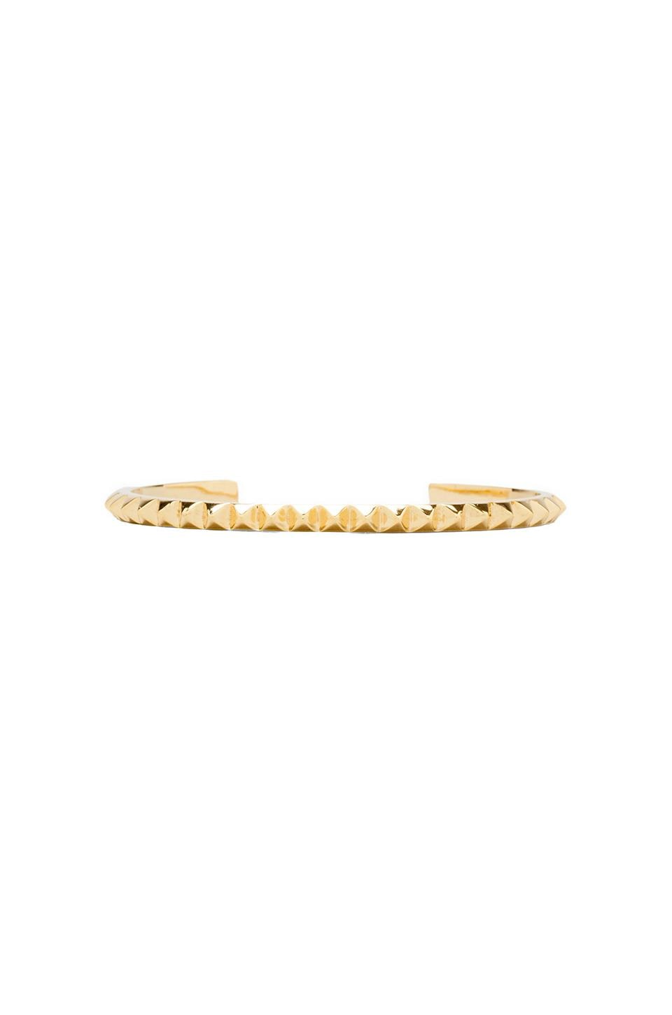 joolz by Martha Calvo Pyramid Stud Cuff in Gold