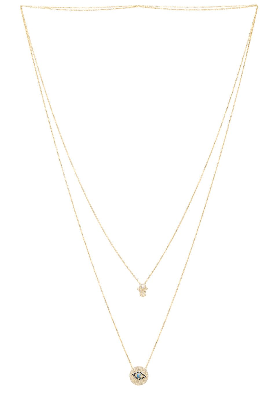 joolz by Martha Calvo Protection Scapulary Necklace in Gold Vermeil