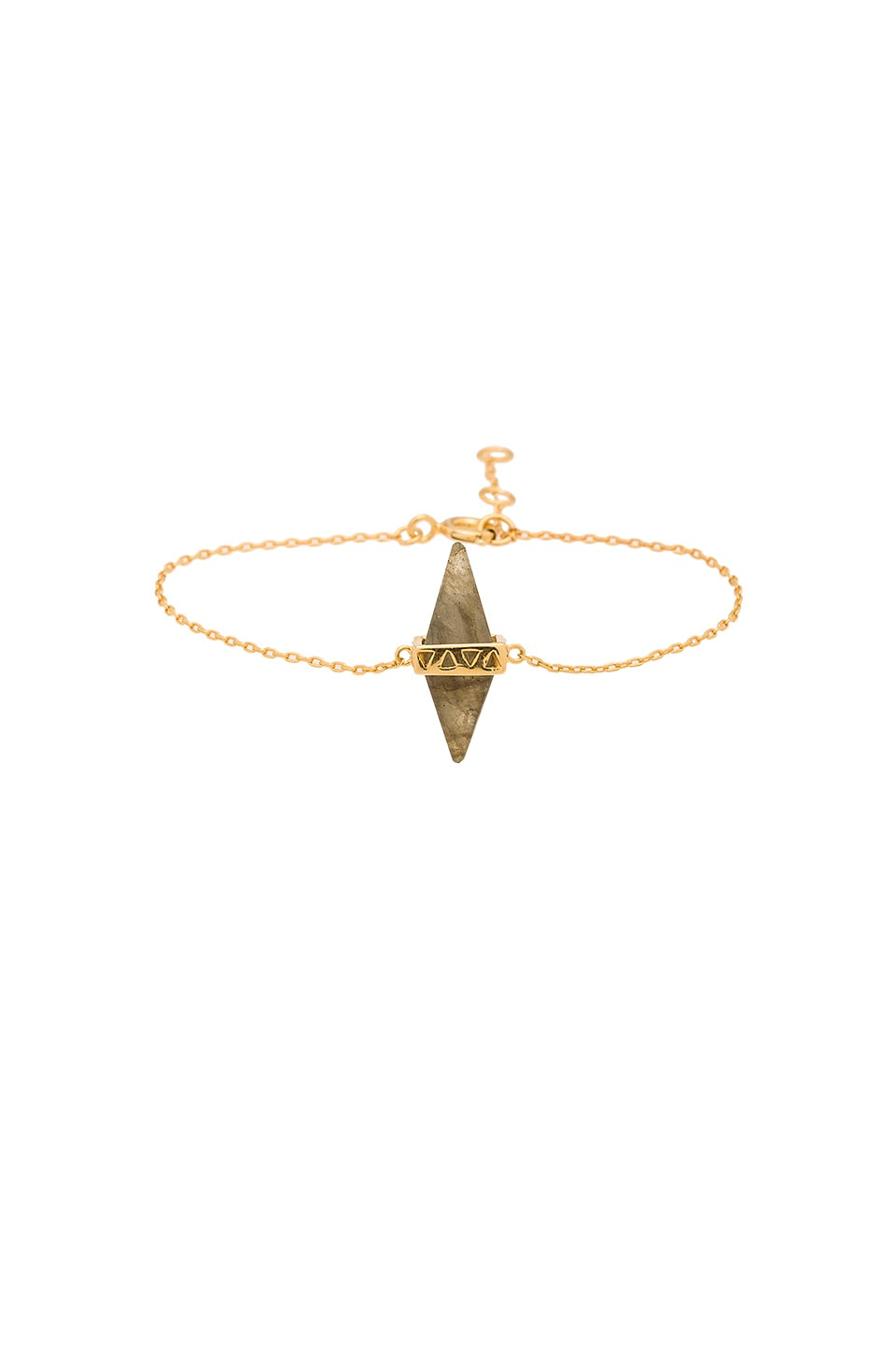 joolz by Martha Calvo Gemstone Dagger Bracelet in Gold & Laboradite