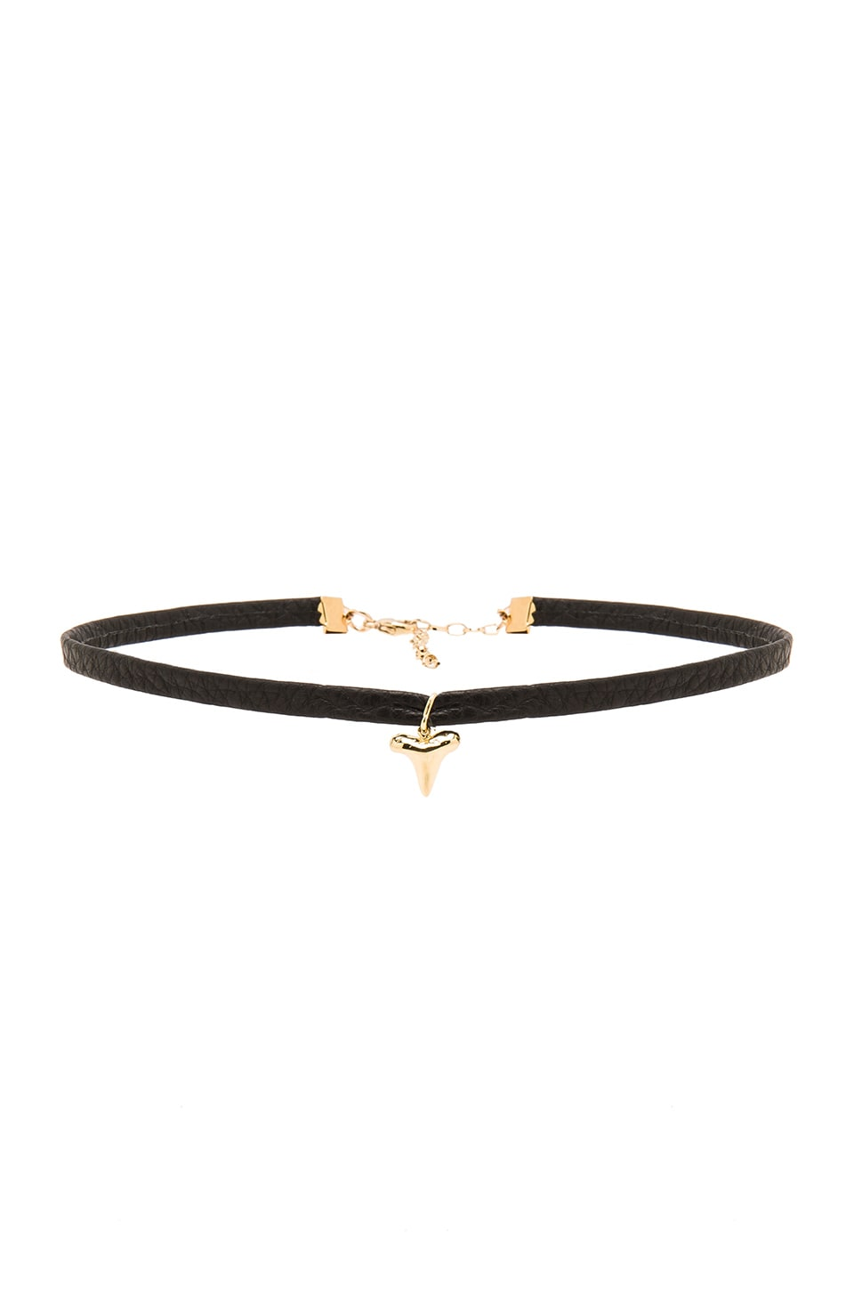 joolz by Martha Calvo Shark Tooth Choker in Gold