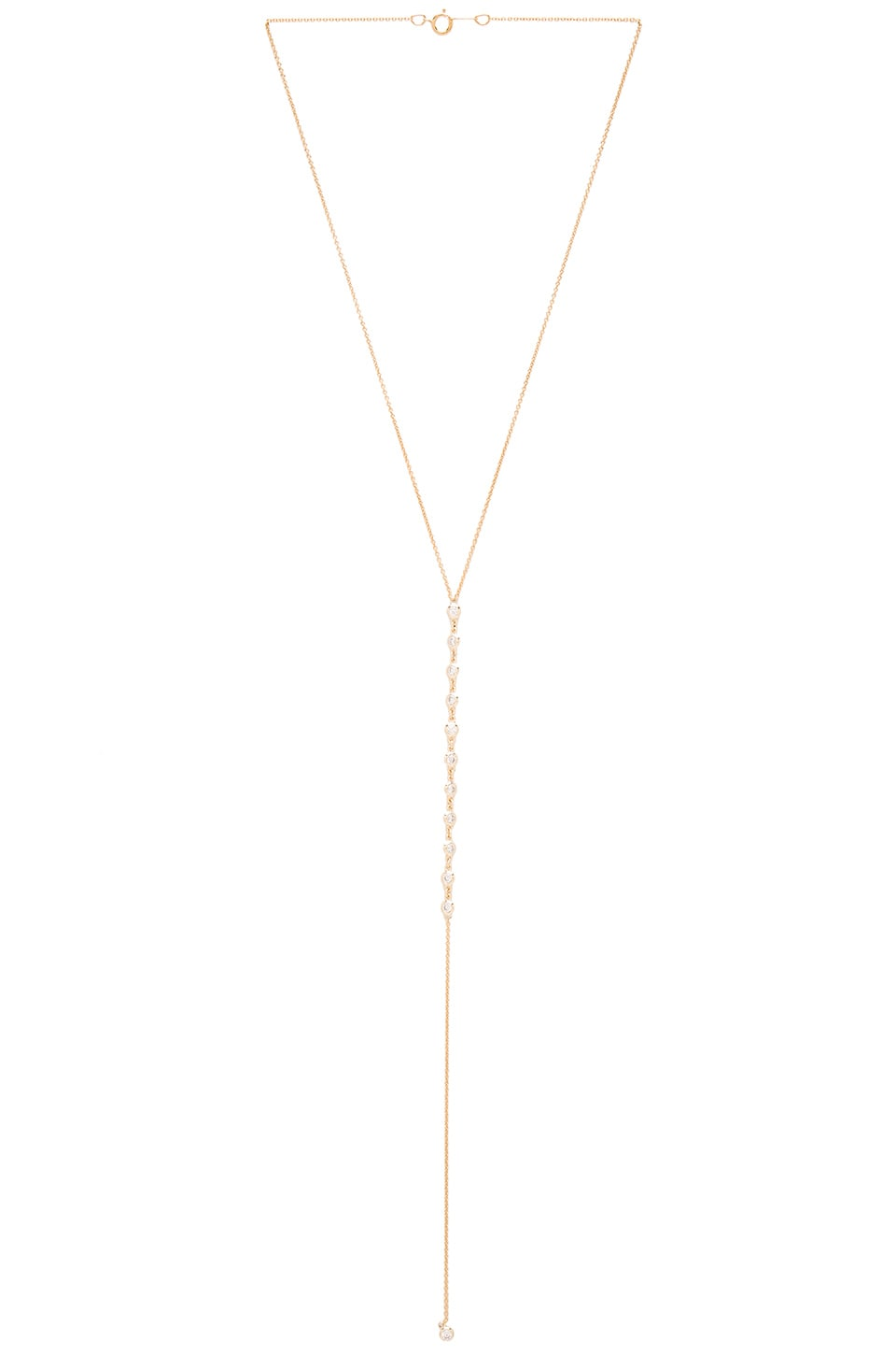joolz by Martha Calvo Bezel Bar Lariat Necklace in Gold