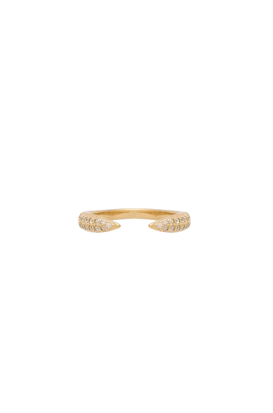 joolz by Martha Calvo Pave Claw Ring in Gold
