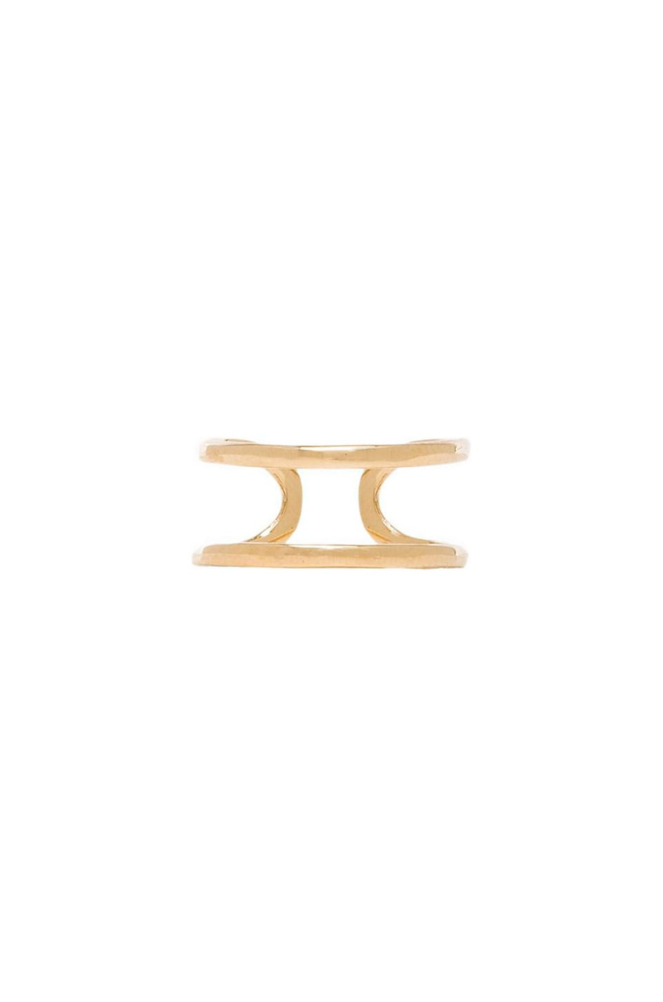 joolz by Martha Calvo Open Bar Knuckle Ring in Gold