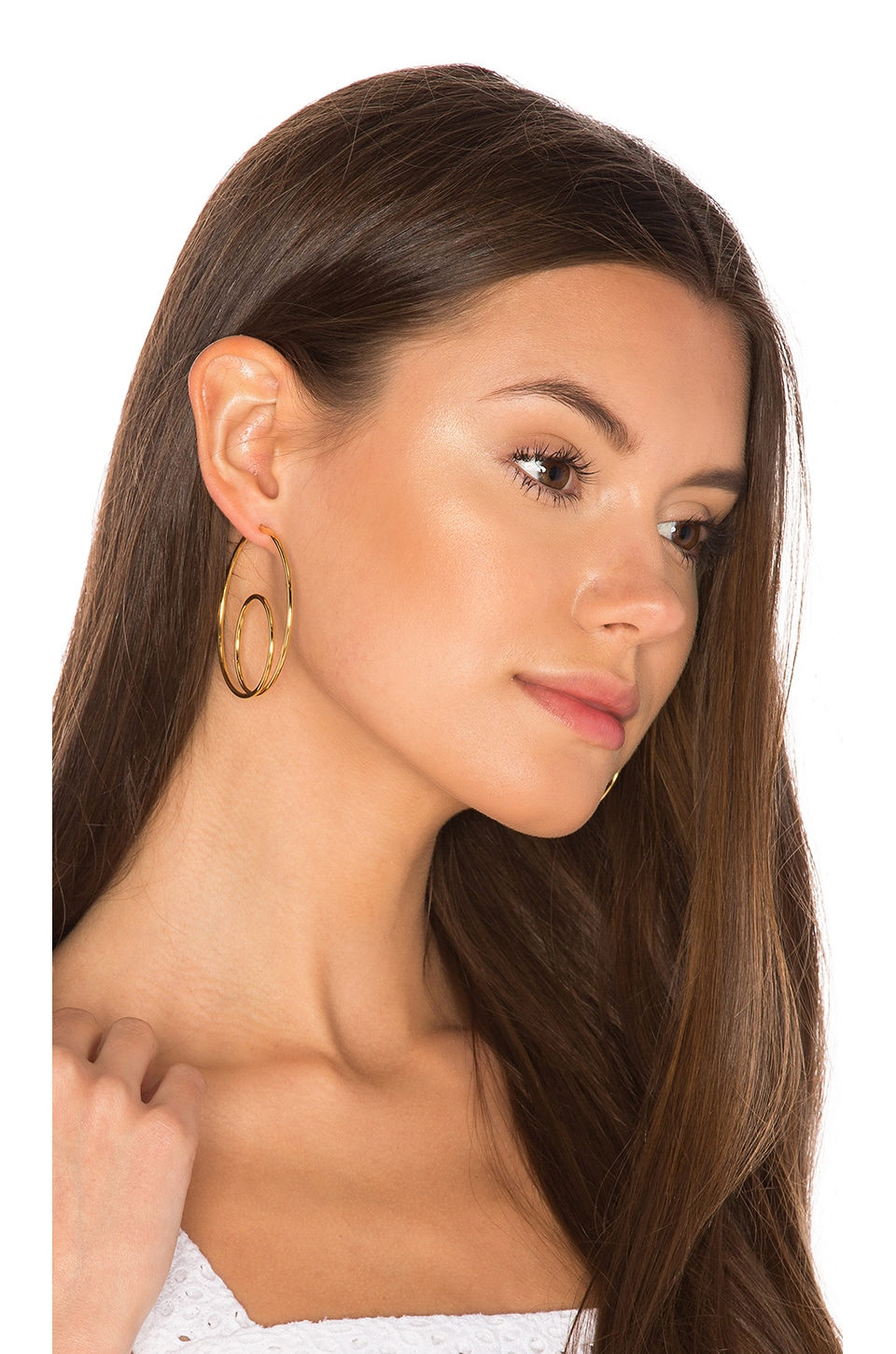 joolz by Martha Calvo Double Loop Earrings in Gold