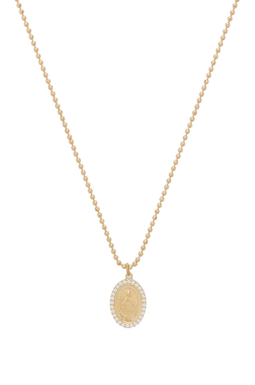 Joolz by martha calvo miraculous mary pendant necklace in 14k gold joolz by martha calvo miraculous mary pendant necklace in 14k gold plated aloadofball Choice Image