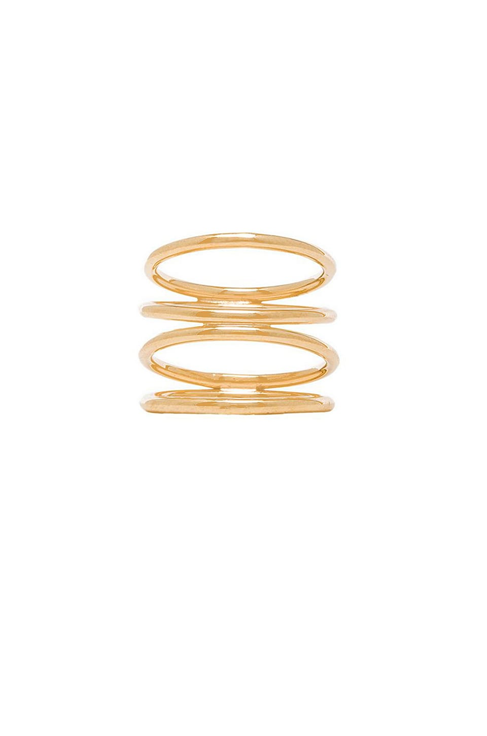 joolz by Martha Calvo Staircase Ring in Gold