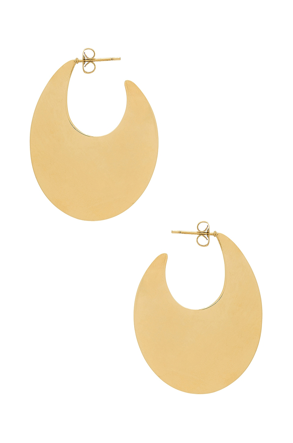 joolz by Martha Calvo The Grove Hoops in Gold