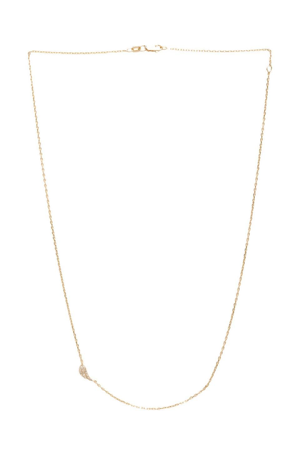 joolz by Martha Calvo Diamond Angel Wing Necklace in Gold