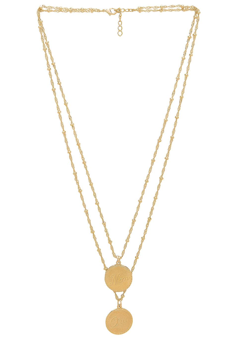 joolz by Martha Calvo Non & Oui Necklace in Gold