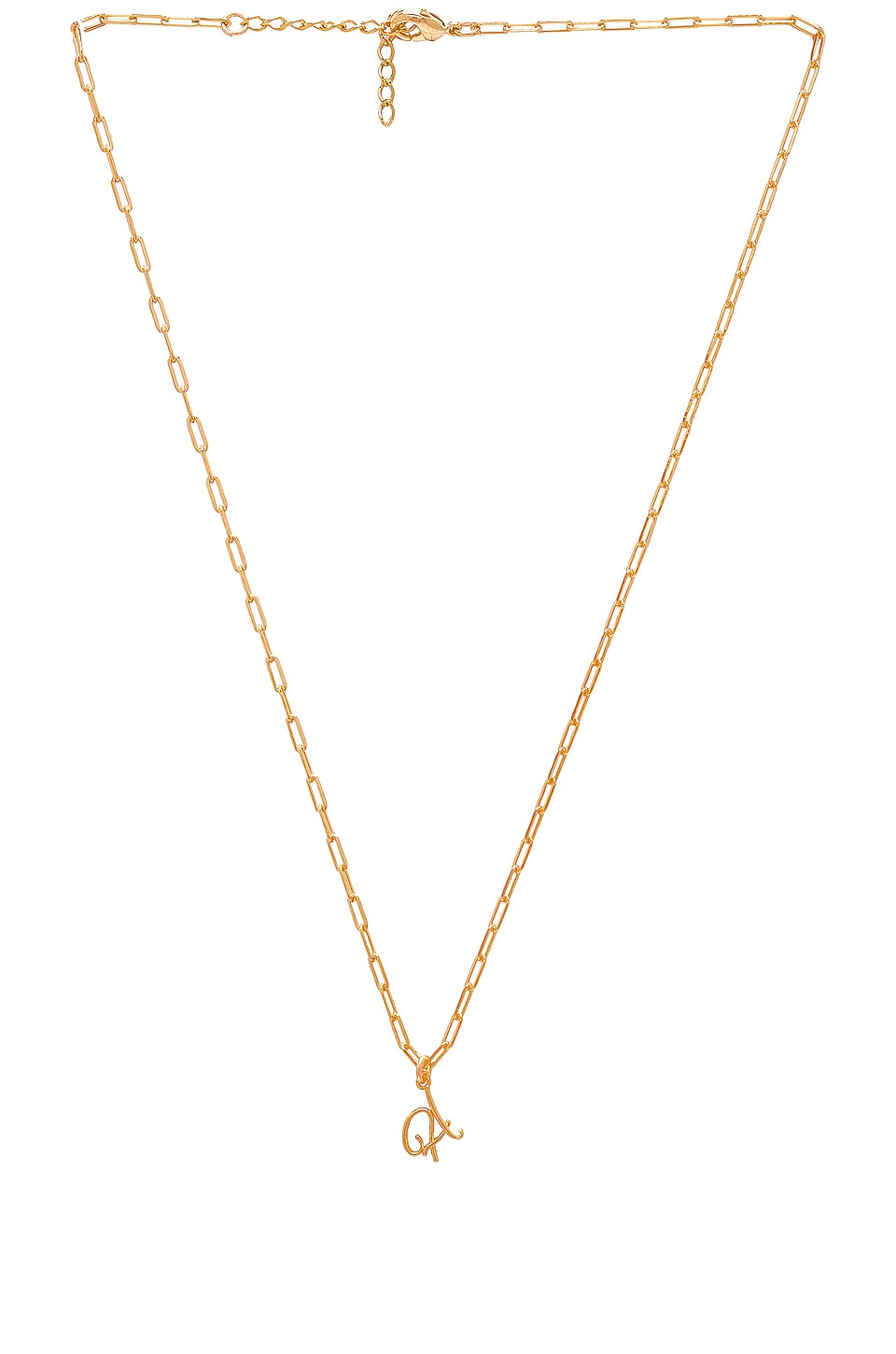 joolz by Martha Calvo A Initial Necklace in Gold