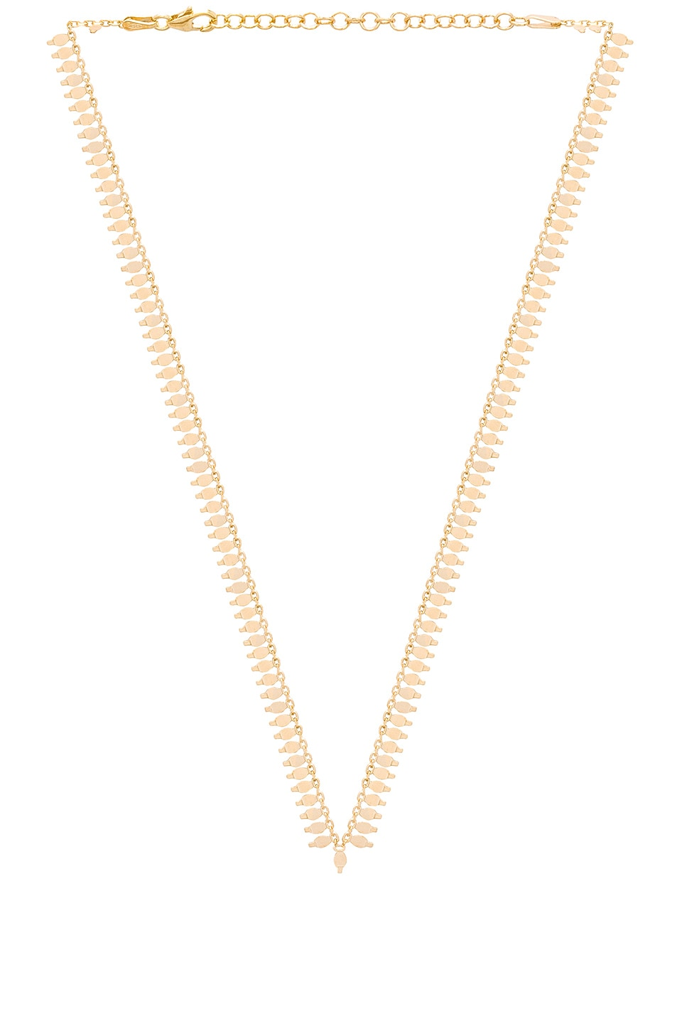 JOOLZ BY MARTHA CALVO Tulum Necklace in Metallic Gold