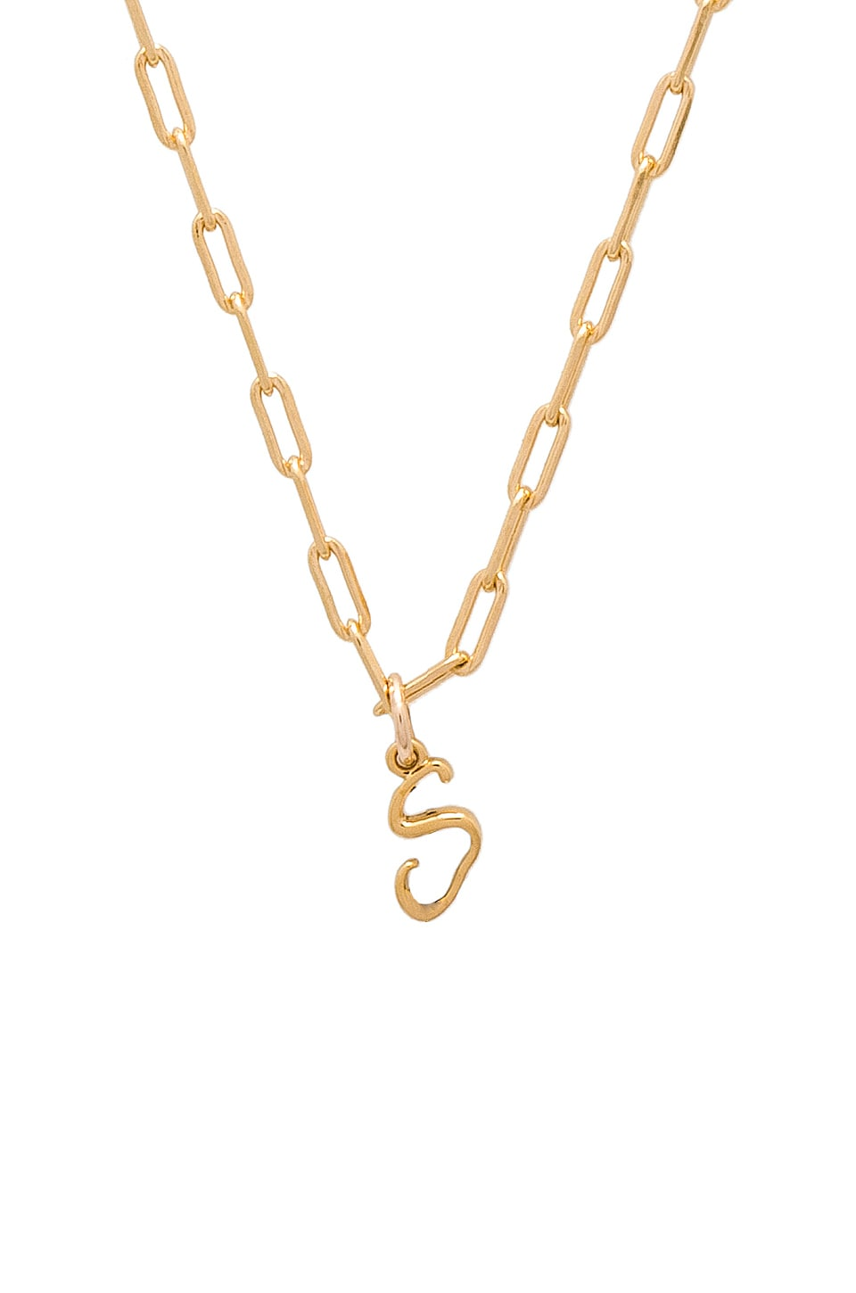 JOOLZ BY MARTHA CALVO S Initial Necklace in Metallic Gold