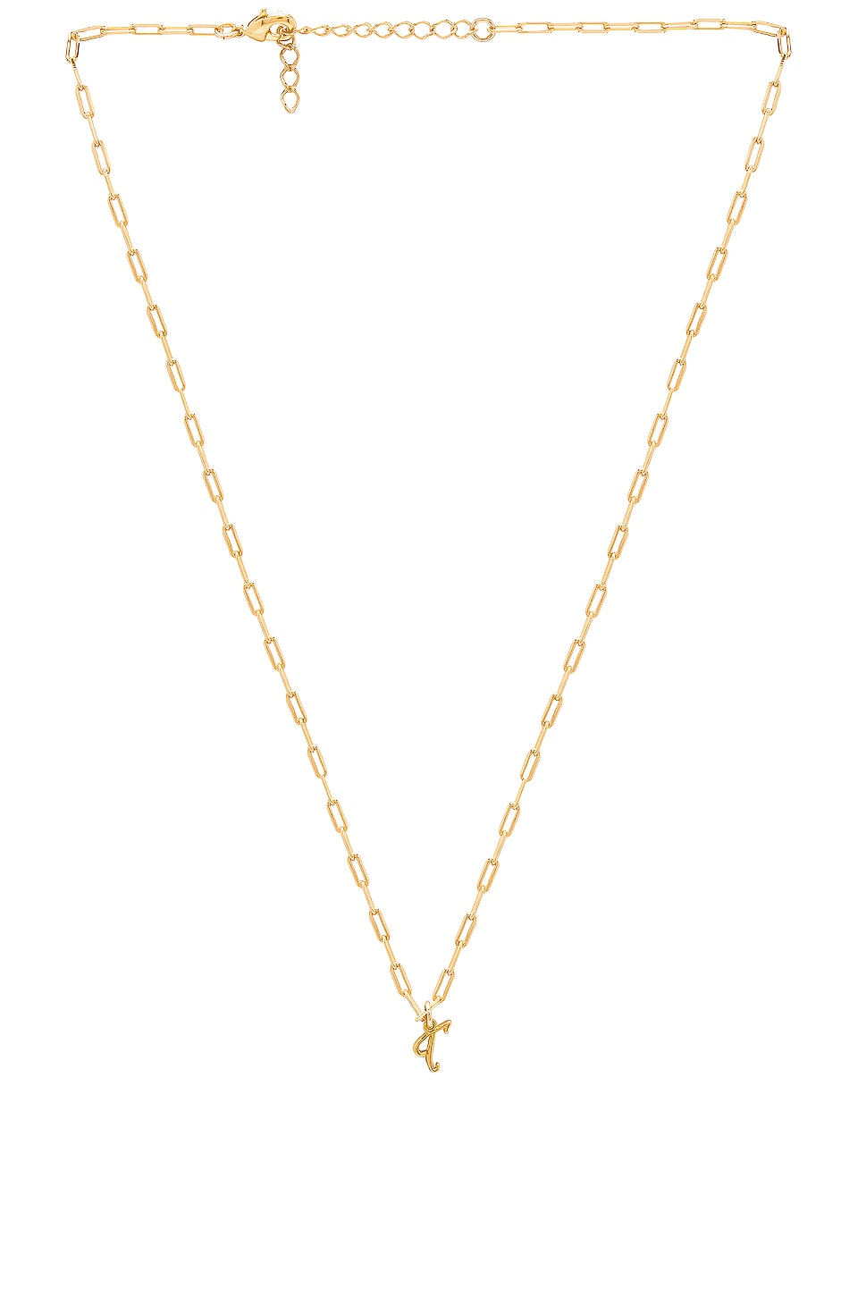 joolz by Martha Calvo T Initial Necklace in Gold