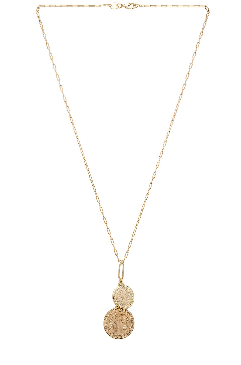 JOOLZ BY MARTHA CALVO Double Metal Benedict Necklace in Metallic Gold