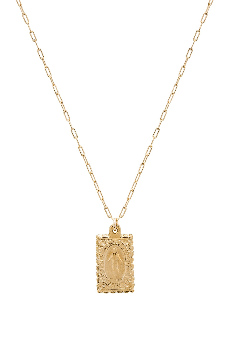 JOOLZ BY MARTHA CALVO Virgin Mary Pendant Necklace in Metallic Gold