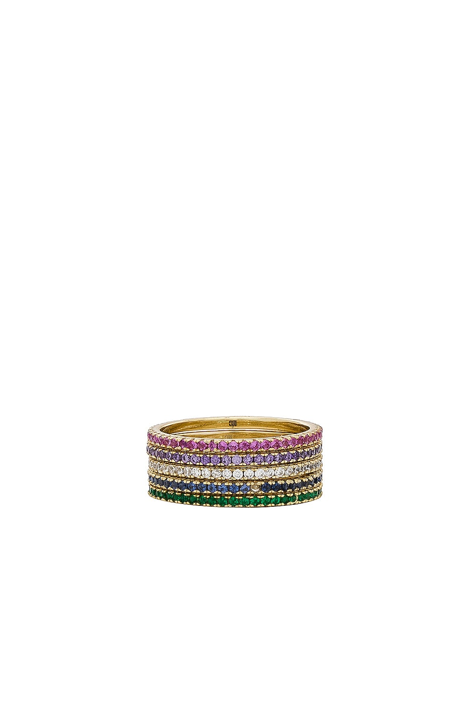 joolz by Martha Calvo CZ Eternity Band in Gold & CZ