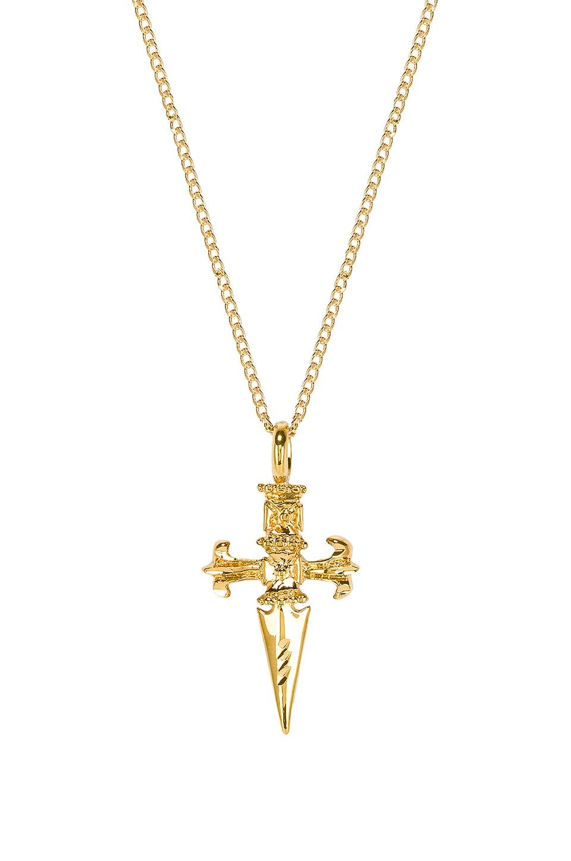 joolz by Martha Calvo Sword Cross Necklace in Gold