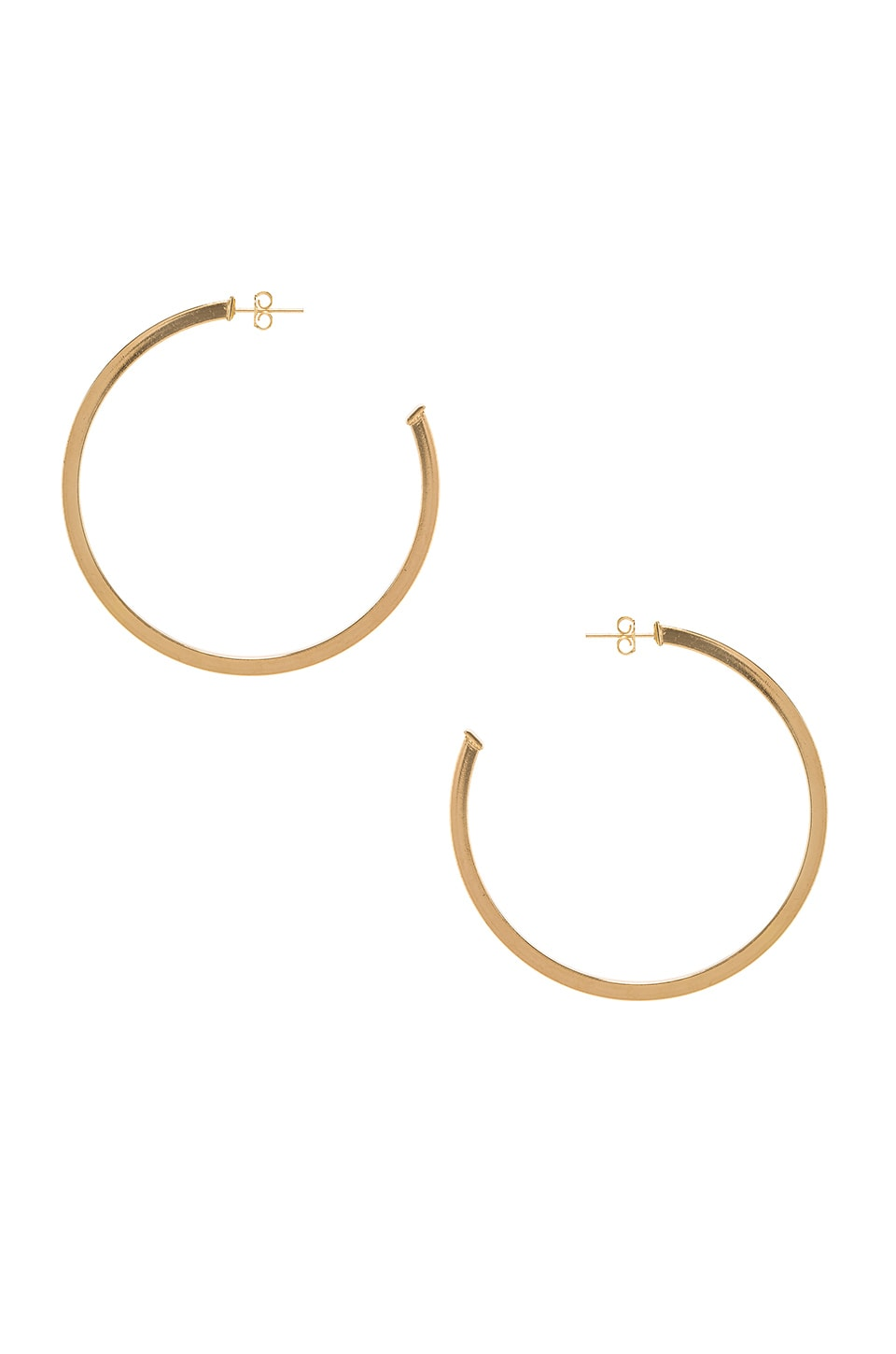 JOOLZ BY MARTHA CALVO Hailey Hoops in Metallic Gold