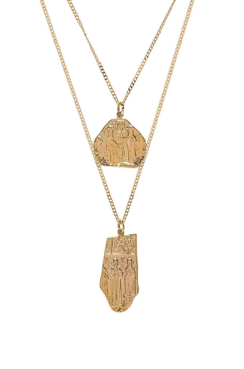 JOOLZ BY MARTHA CALVO The Creed Collection Necklace Set in Metallic Gold