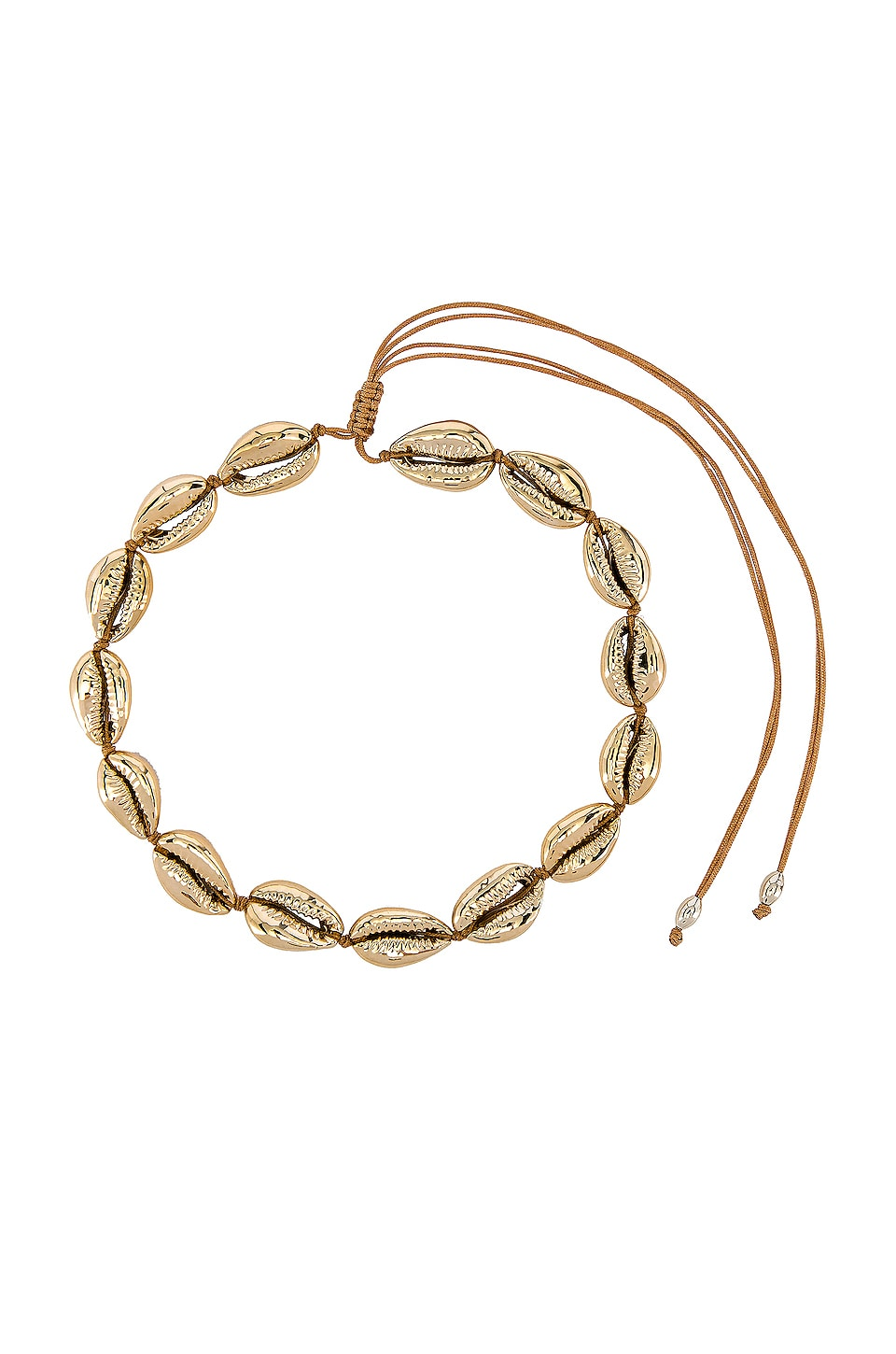 joolz by Martha Calvo Single Gold Puka Choker in Gold