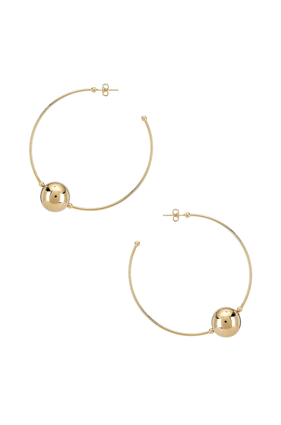 joolz by Martha Calvo Baller Hoops in Gold