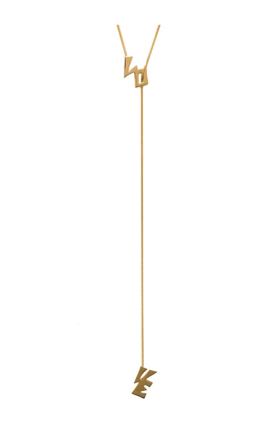 joolz by Martha Calvo Love Lariat Necklace in Gold