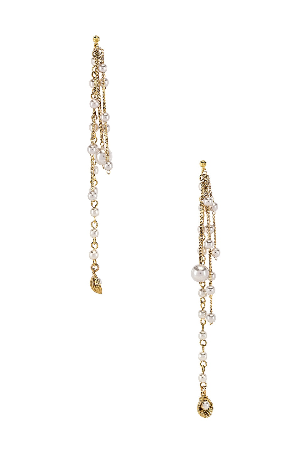 joolz by Martha Calvo Pearl Shaker Earrings in Gold