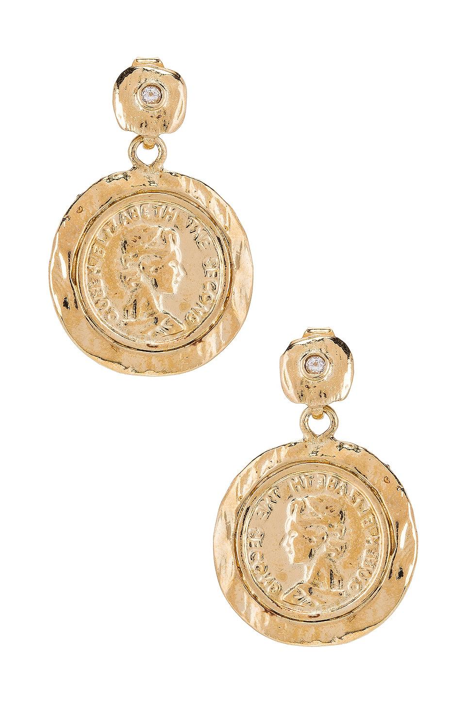 joolz by Martha Calvo Tesori Coin Earrings in Gold